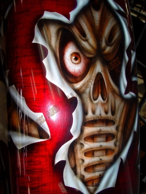 Geiger and Skull - Rock and Roll Custom Paint