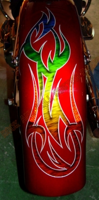 LED Tail Lights - Rock and Roll Custom Paint