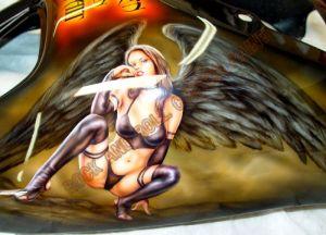 Biker Babes Custom Paint 264