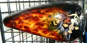 Flames Custom Paint 2261