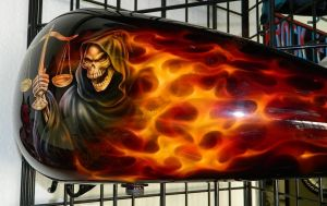 Flames Custom Paint 2281