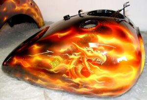 Flames Custom Paint 451