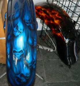Geiger And Skulls Custom Paint 2307