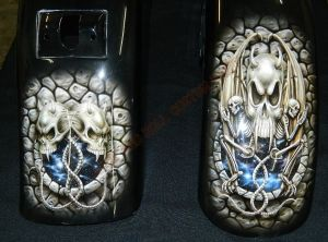 Geiger And Skulls Custom Paint 2325