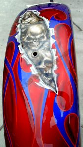 Geiger And Skulls Custom Paint 542