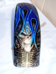 Geiger And Skulls Custom Paint 548