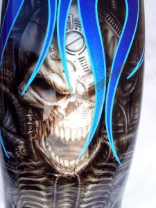 Geiger And Skulls Custom Paint 549