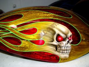 Geiger And Skulls Custom Paint 554