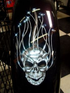 Geiger And Skulls Custom Paint 555