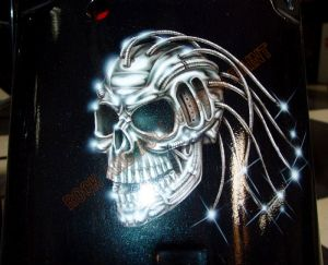 Geiger And Skulls Custom Paint 556