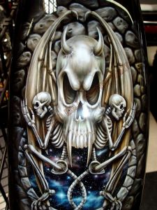 Geiger And Skulls Custom Paint 557