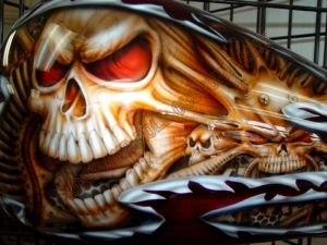 Geiger And Skulls Custom Paint 561