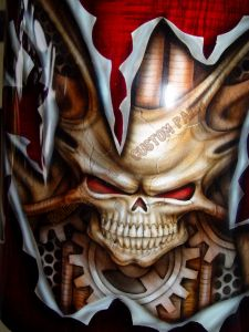 Geiger And Skulls Custom Paint 565
