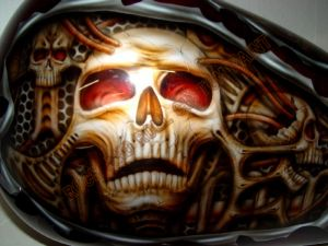 Geiger And Skulls Custom Paint 566