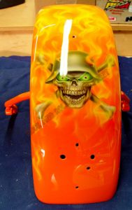Geiger And Skulls Custom Paint 574