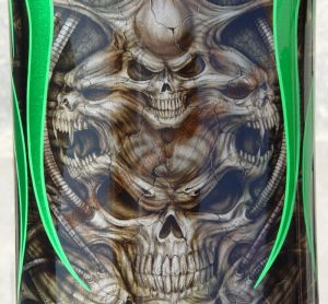 Geiger And Skulls Custom Paint 585