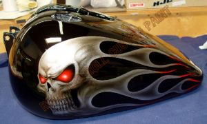 Geiger And Skulls Custom Paint 587