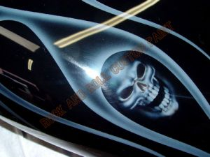 Geiger And Skulls Custom Paint 593