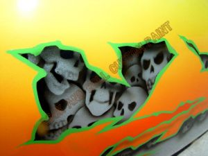 Geiger And Skulls Custom Paint 602