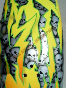 Geiger And Skulls Custom Paint 604