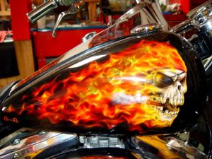 Geiger And Skulls Custom Paint 605