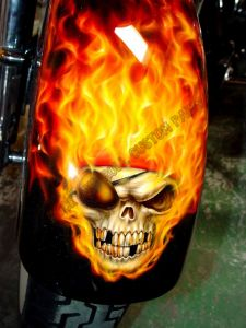 Geiger And Skulls Custom Paint 606