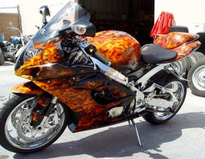 Sport Bikes Custom Paint 1712