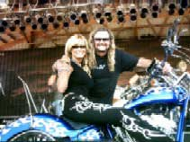 """To Randy at Rock & Roll…Thanks for a beautiful killer paint job! Love…"" -MICHELE SMITH http://www.americanthundertv.com/"