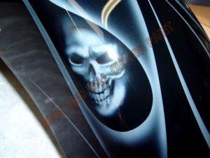 Geiger And Skulls Custom Paint 591