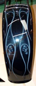 Geiger And Skulls Custom Paint 596