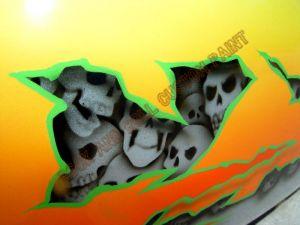 Geiger And Skulls Custom Paint 602